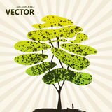 Abstract color tree background green stock illustration