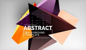 Abstract color triangles geometric background. Mosaic triangular low poly style. Vector illustration vector illustration