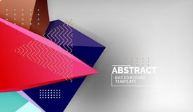 Abstract color triangles geometric background. Mosaic triangular low poly style. Vector illustration stock illustration