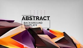 Abstract color triangles geometric background. Mosaic triangular low poly style. Vector illustration royalty free illustration