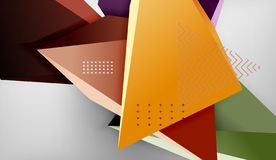 Abstract color triangles geometric background. Mosaic triangular low poly style vector illustration