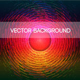 Abstract color vector background with light centre vector illustration
