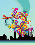 Abstract color vector illustration Royalty Free Stock Photos