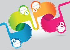 Abstract color vector infographics background Royalty Free Stock Photography