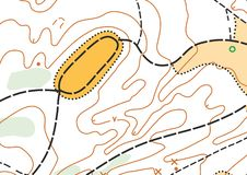 Abstract color vector topographic highly detailed map stock image