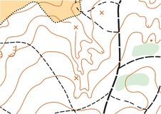 Abstract color vector topographic highly detailed map royalty free stock photography