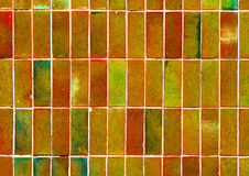 Abstract color wall background.Green brick wall for background u Royalty Free Stock Image