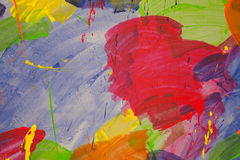 Abstract color wall red blue green Stock Photography