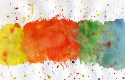 Abstract color watercolor background. Watercolor paints on a white background. Watercolor stains and blots Royalty Free Stock Photo