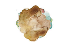 Abstract color watercolor blot Stock Image