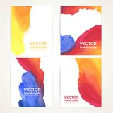 Abstract color watercolor handdrawing banners Royalty Free Stock Photo