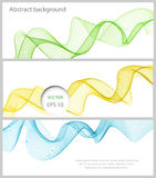 Abstract color wave design element Royalty Free Stock Images
