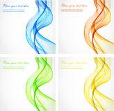Abstract color wave design element Stock Photography