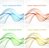 Abstract color wave design element Royalty Free Stock Photo