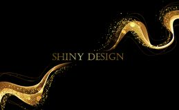 Abstract color wave design element Royalty Free Stock Image