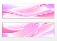 Abstract color wave design element. On white background Royalty Free Stock Photos