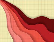 Abstract color wave retro background Royalty Free Stock Image