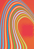 Abstract color waves composition. With dotted background Stock Images