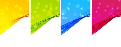 Abstract color waves. The illustration contains the image of Abstract color waves royalty free illustration