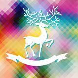 Abstract color Xmas Background with deer Royalty Free Stock Images
