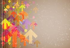 Abstract colored arrows grunge background Royalty Free Stock Photo
