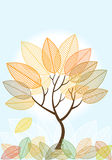 Abstract Colored Autumn Tree Stock Photography