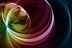Abstract colored background. Abstract  rainbow colored form on black background Royalty Free Stock Images