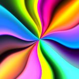 Abstract Colored Background. An abstract background of waving colored lines that converge in a center point vector illustration