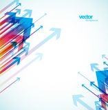 Abstract colored background with arrows. Vector art Royalty Free Stock Image