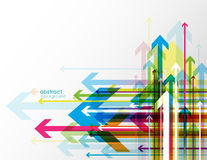 Abstract colored background with arrows. Royalty Free Stock Image