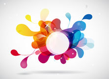 Abstract colored background with circle. Royalty Free Stock Images