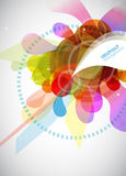 Abstract colored background with circles. Stock Image