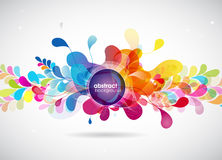 Abstract colored background with circles. vector illustration