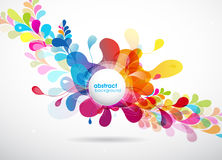 Abstract colored background with circles. Royalty Free Stock Photography