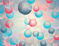Abstract colored background with circles Stock Image
