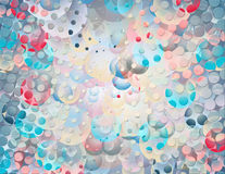Abstract colored background with circles Stock Photography