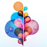 Abstract colored background with circles. + EPS10 Stock Photography