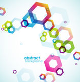 Abstract colored background with circles. Stock Photos