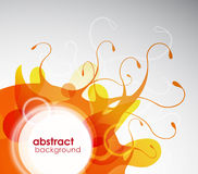 Abstract colored background with circles. Stock Images