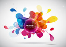 Abstract colored background with circles. Vector art Stock Photography