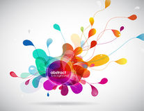 Abstract colored background with circles. Royalty Free Stock Image