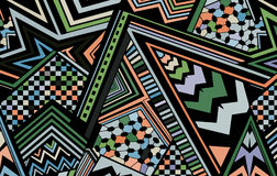 Abstract colored background consisting of lines and triangles Stock Image