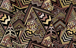 Abstract colored background consisting of lines and triangles Stock Photography