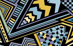 Abstract colored background consisting of lines and triangles Royalty Free Stock Photography