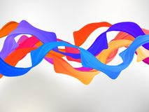 Abstract colored background with curves. EPS 8 Royalty Free Stock Image