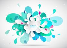 Abstract colored background with different shapes. Royalty Free Stock Photography