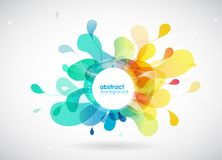 Abstract colored background with different shapes. Vector art stock illustration