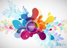Abstract colored background with different shapes. Vector art royalty free illustration
