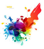 Abstract colored background with different shapes. Royalty Free Stock Image