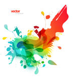 Abstract colored background with different shapes. Royalty Free Stock Photo